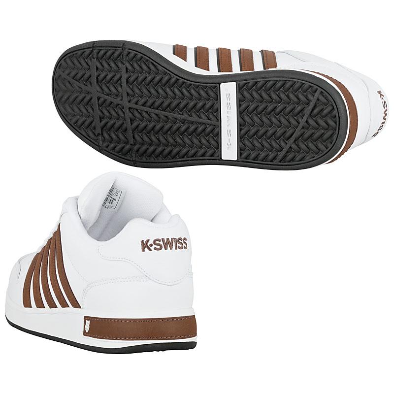 k swiss thelen leather wei herren sneaker schuhe tunrschuhe sportschuhe neu ebay. Black Bedroom Furniture Sets. Home Design Ideas