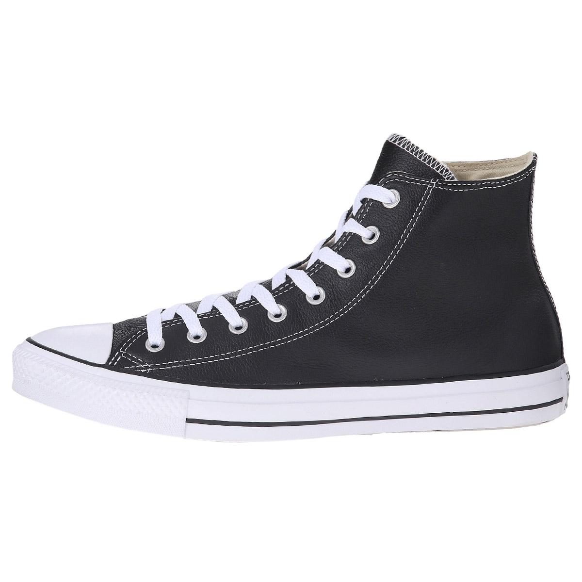 converse chucks hi leather damen schuhe schwarz leder sneaker taylor all star ebay. Black Bedroom Furniture Sets. Home Design Ideas