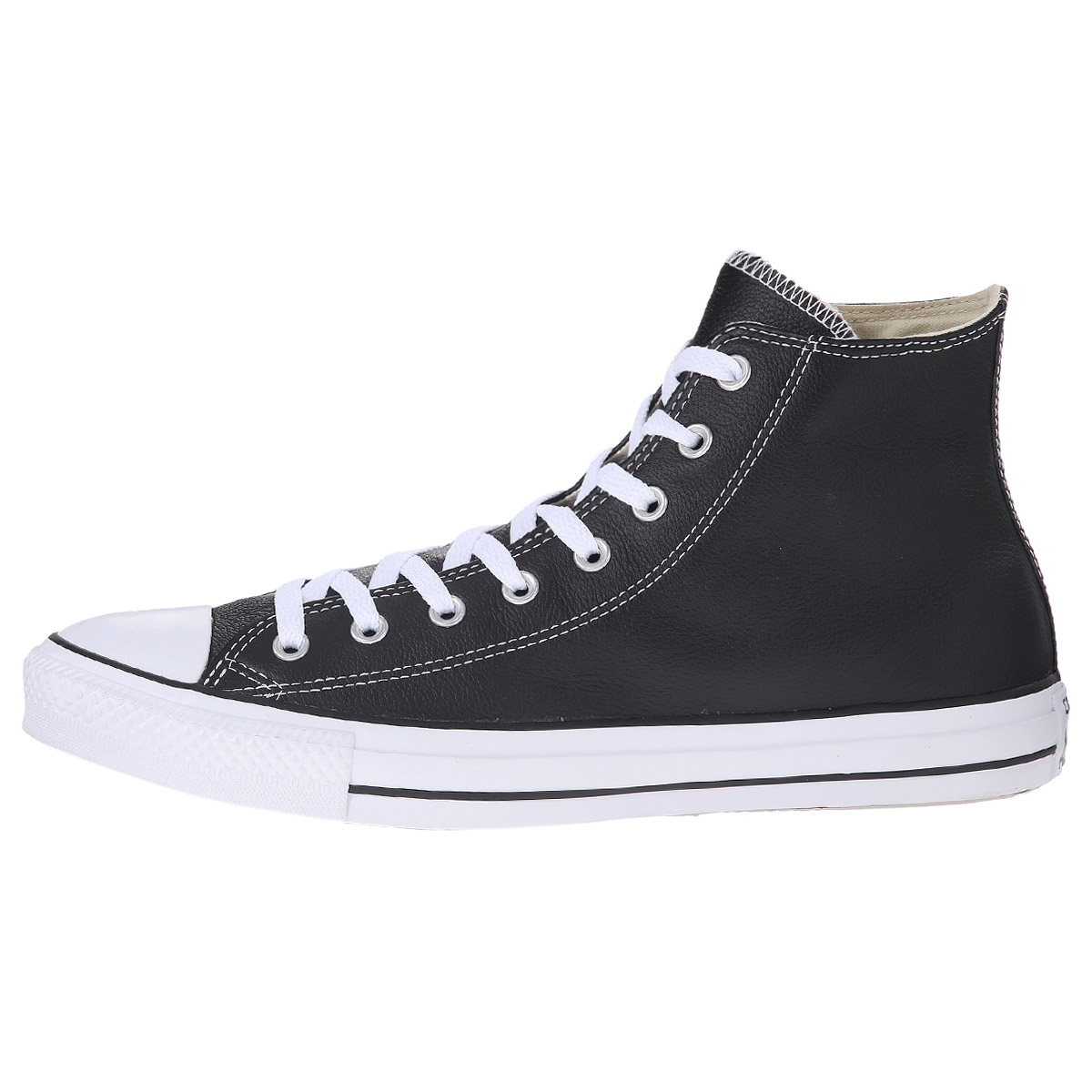 converse chucks hi leather damen schuhe schwarz leder. Black Bedroom Furniture Sets. Home Design Ideas