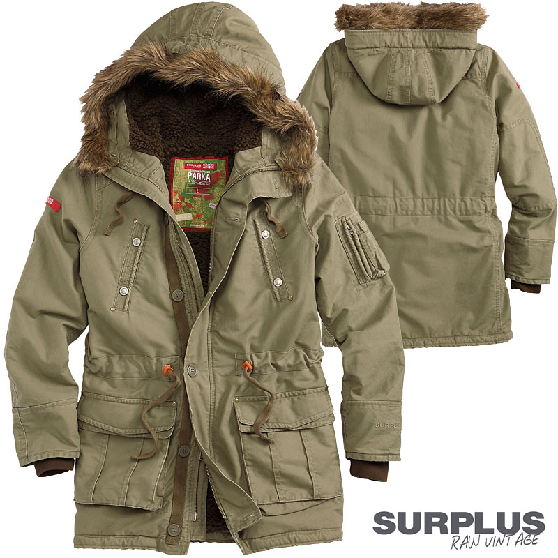 surplus parka supreme trooper herren jacke 2in1 winterjacke mantel lotus effekt ebay. Black Bedroom Furniture Sets. Home Design Ideas