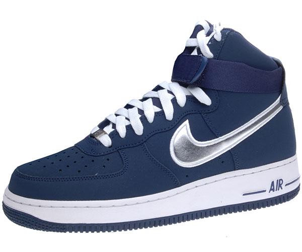 nike air force 1 one high 07 sneaker neu navy blau m nner. Black Bedroom Furniture Sets. Home Design Ideas