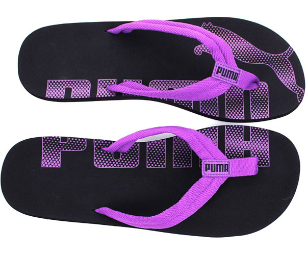 puma flip flops damen schwarz pink