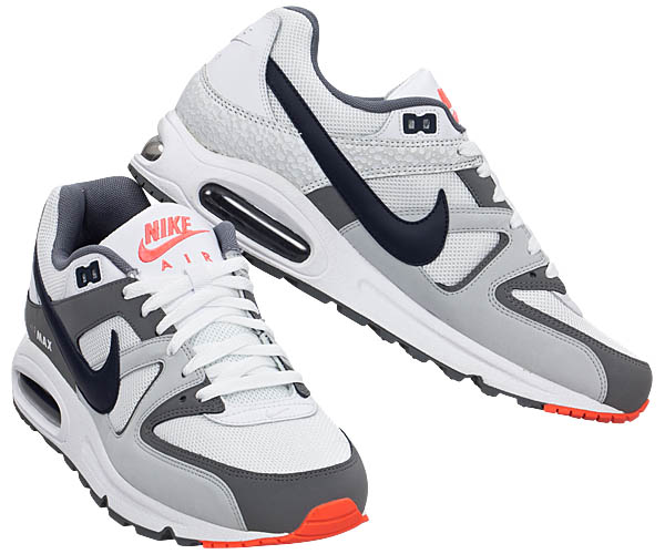 NIKE AIR MAX COMMAND Herren Schuhe NEU Weiß Grau Sneaker