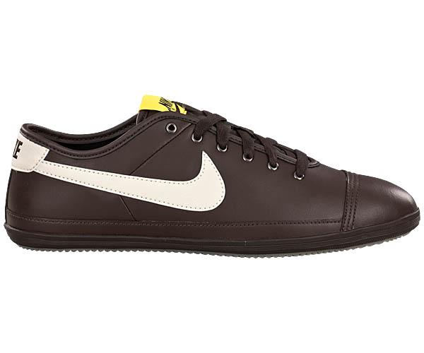 Groesse-Waehlen-NIKE-FLASH-LEATHER-Braun-Sneaker-NEU-Leder-Schuhe-Herrenschuhe