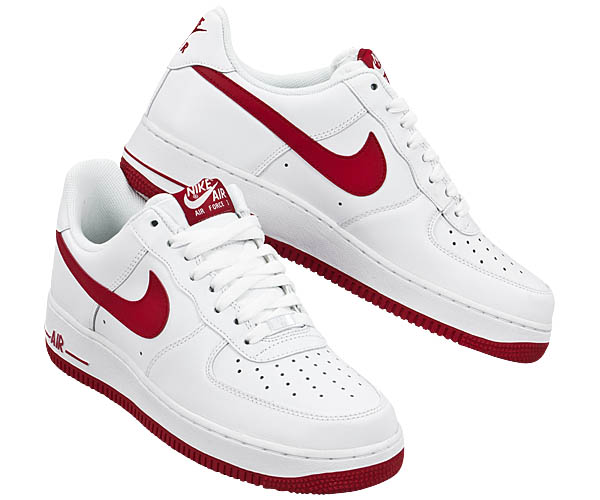 Nike Air Force One Rot Weiß
