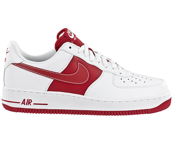 gr e w hlen nike air force 1 one low wei rot schuhe. Black Bedroom Furniture Sets. Home Design Ideas