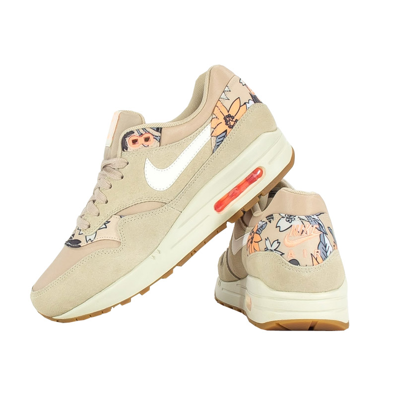 nike wmns air max 1 print sneaker damen schuhe beige sportschuhe neu 90 light ebay. Black Bedroom Furniture Sets. Home Design Ideas