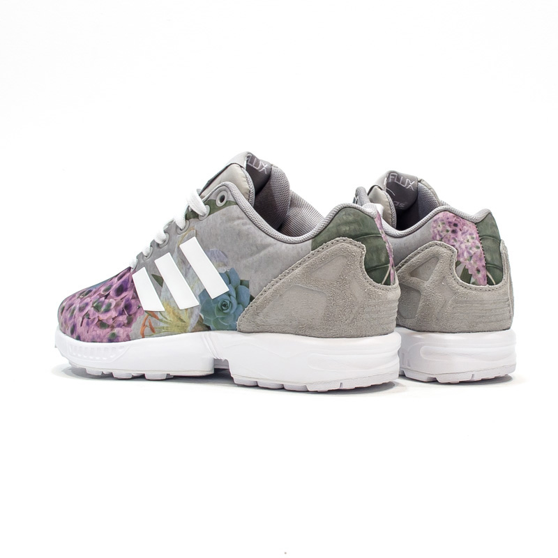 adidas zx flux w blumen damen sneaker frauen schuhe grau originals turnschuh neu ebay. Black Bedroom Furniture Sets. Home Design Ideas