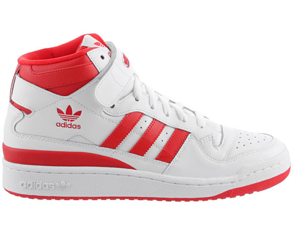 adidas forum mid originals herren schuhe neu weiss rot leder sneaker sportschuhe ebay. Black Bedroom Furniture Sets. Home Design Ideas