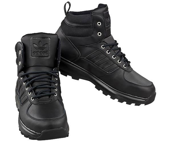 adidas chasker boot m nner boots leder stiefel schwarz herren winterschuhe neu ebay. Black Bedroom Furniture Sets. Home Design Ideas
