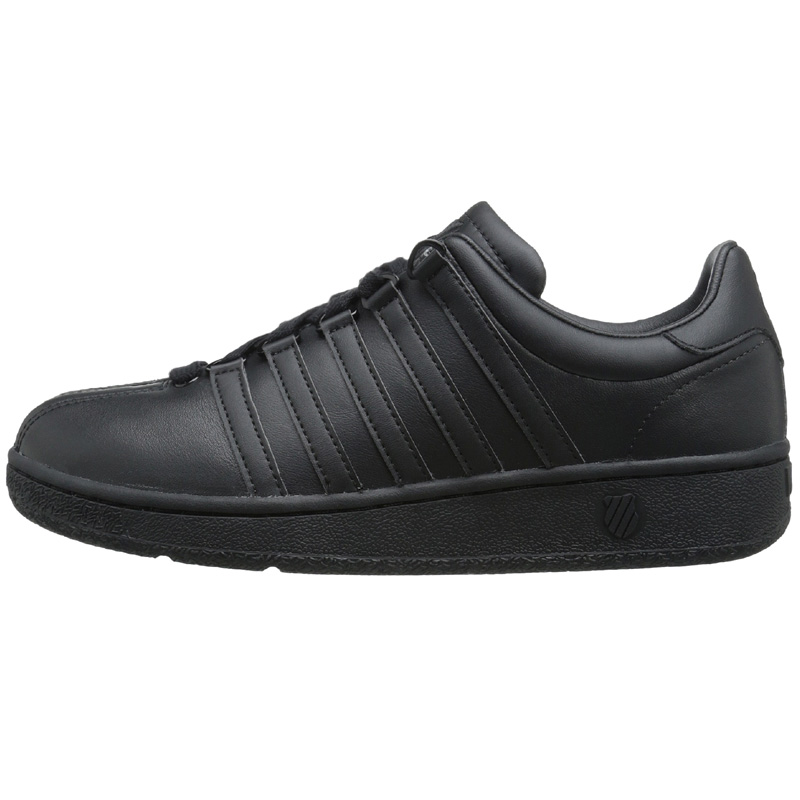 k swiss classic vn schuhe herren sneaker sportschuhe leder schwarz neu premium. Black Bedroom Furniture Sets. Home Design Ideas