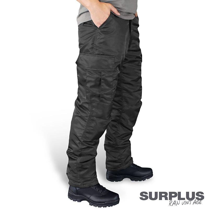 surplus ma1 thermohose herren cargohose outdoor hose schwarz neu gef ttert ebay. Black Bedroom Furniture Sets. Home Design Ideas