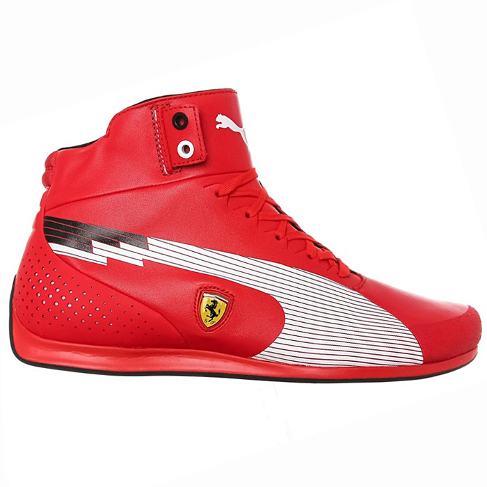 puma evo speed mid sf scuderia ferrari schuhe sneaker rot. Black Bedroom Furniture Sets. Home Design Ideas