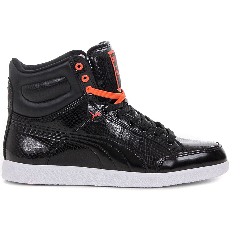 puma damen mid schuhe leder canvas sneaker sportschuhe turnschuhe high hoch neu ebay. Black Bedroom Furniture Sets. Home Design Ideas