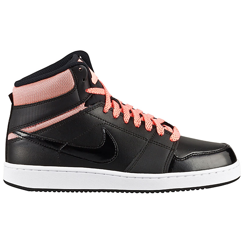 nike backboard high wmns damen sneaker schwarz leder. Black Bedroom Furniture Sets. Home Design Ideas