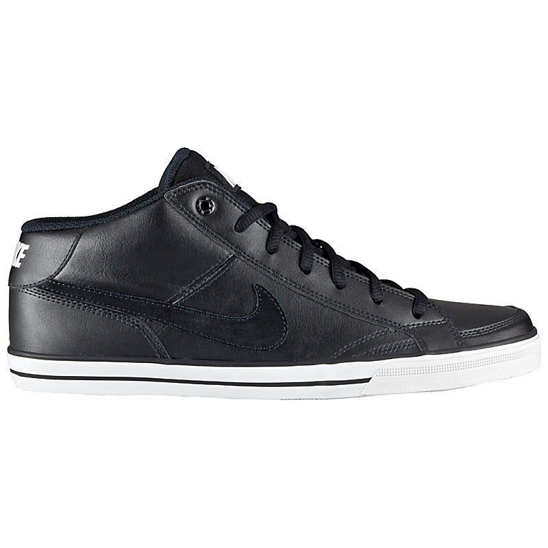 nike capri ii 2 mid leather herren schuhe leder schwarz sneaker sportschuhe neu ebay. Black Bedroom Furniture Sets. Home Design Ideas