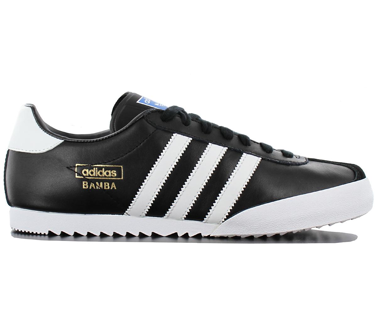 wholesale dealer f4c1f d11a3 ADIDAS-Originals-BAMBA-LEATHER-Maenner-Leder-Sneaker-Herren-