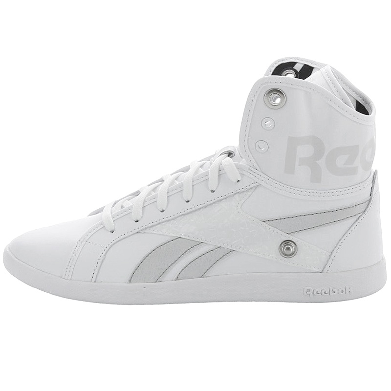 Reebok Top Down Snaps Damen 2in1 Schuhe High Top Sneaker Weiß Schwarz Freestyle