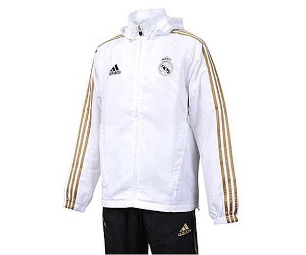 adidas real madrid pr sentations trainingsanzug mit kapuze. Black Bedroom Furniture Sets. Home Design Ideas
