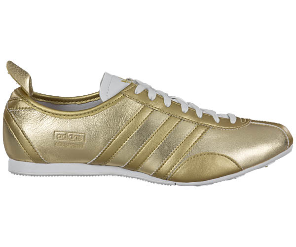 adidas adisprint w v25014 gold damen schuhe neu leder sneaker damenschuhe ebay. Black Bedroom Furniture Sets. Home Design Ideas