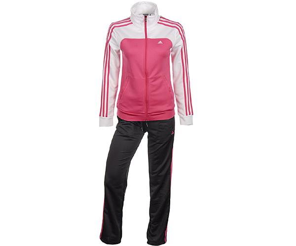 adidas ess 3s kn suit damen trainingsanzug essentials 3. Black Bedroom Furniture Sets. Home Design Ideas