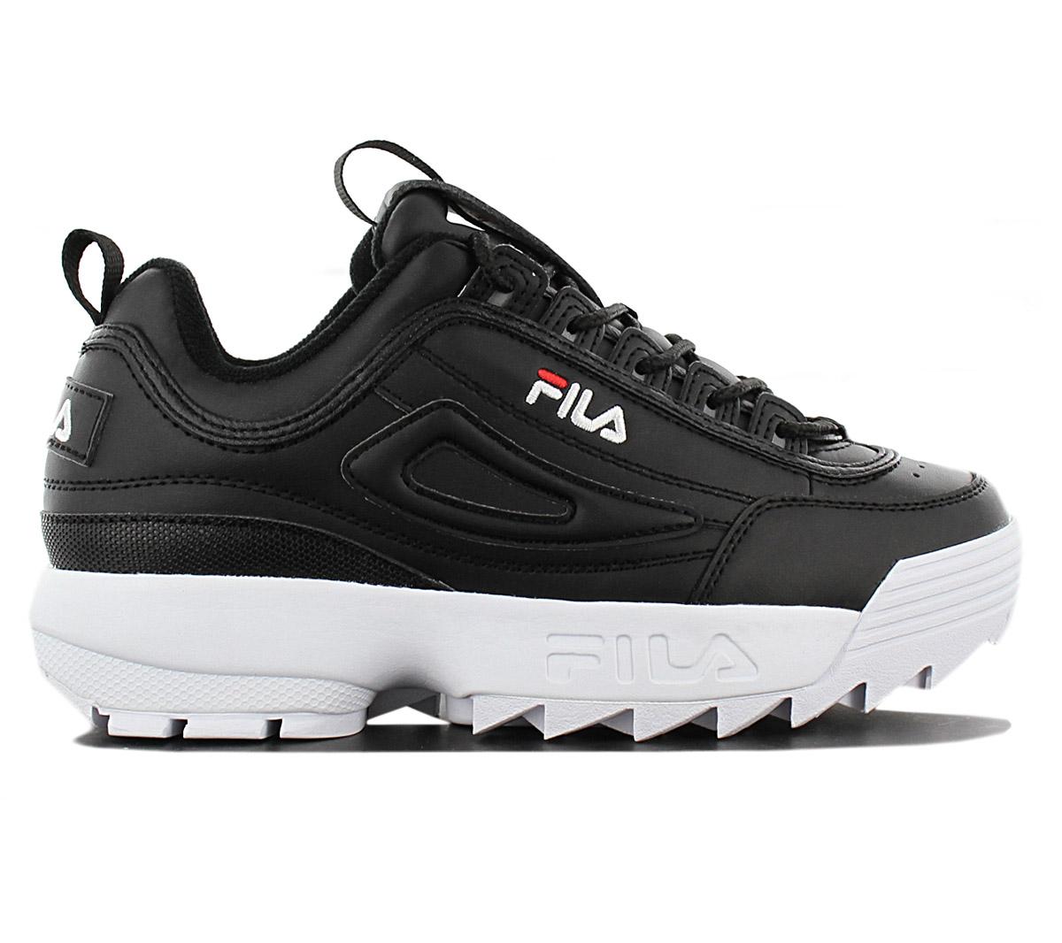 Details zu FILA Disruptor Low W Damen Sneaker Schuhe 1010302.25Y Schwarz Freizeit Turnschuh