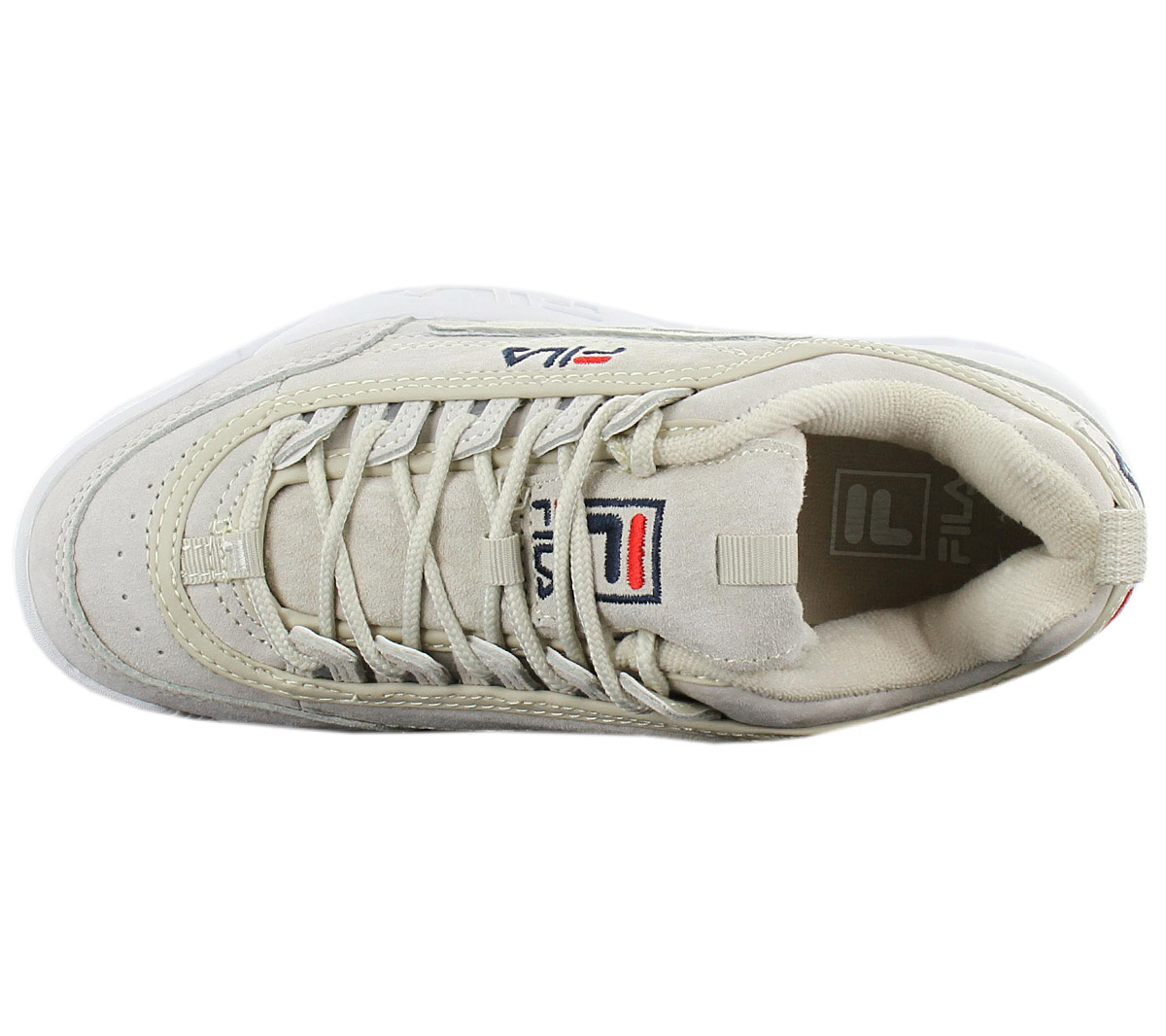Details about Fila Disruptor LEATHER S Low Women's Sneaker Leather Grey Shoes 1010436.30H New