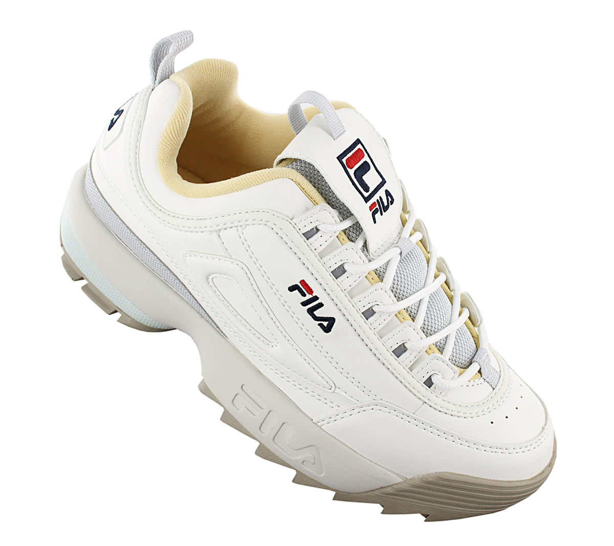 Details about Fila Disruptor CB Low Women's Sneaker 1010604.02X Shoes Platform Trainers New