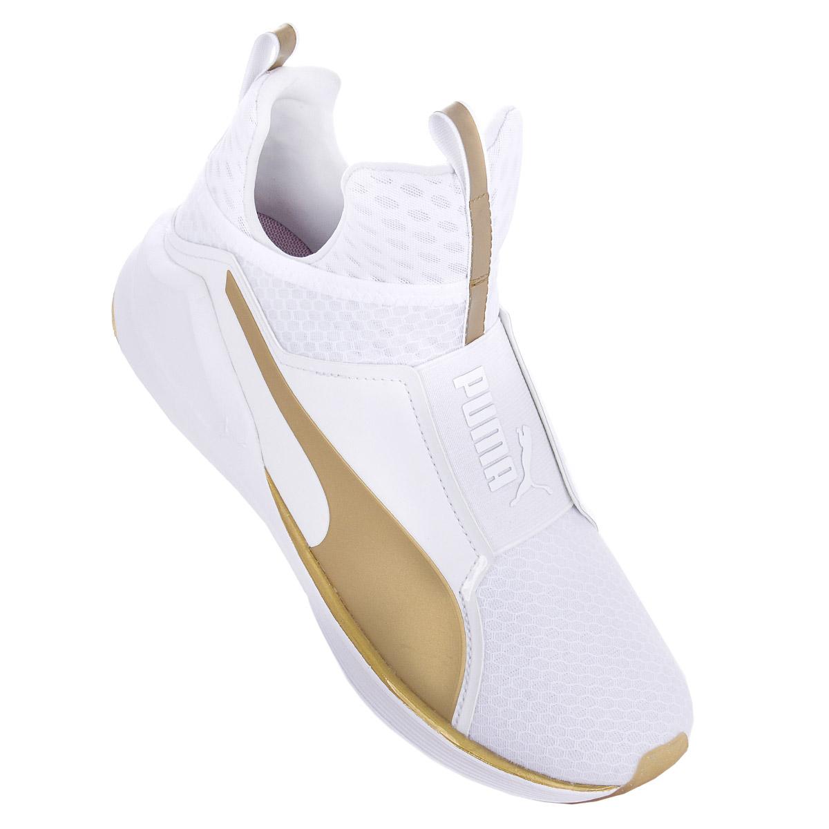 NEU Puma Fierce Gold Damen Schuhe Weiß 189192-01 SBLE