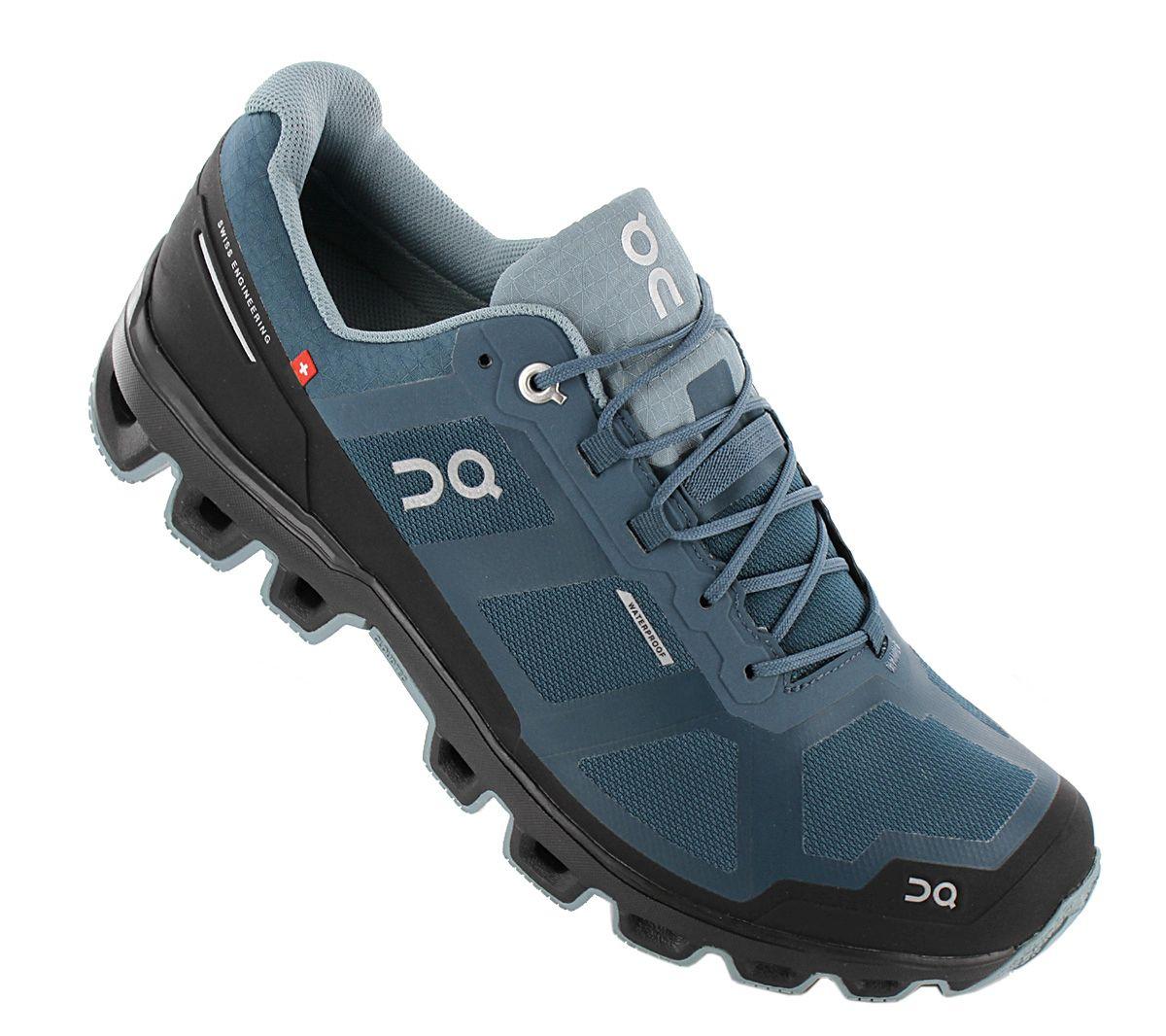 ON Running Cloudventure waterproof 22.99858 Men/'s Trail-Running Shoes Blue New