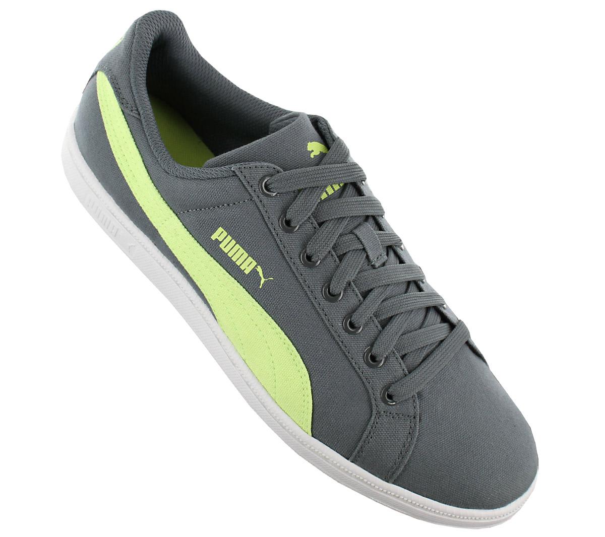 Details zu Puma Smash CV Herren Fashion Sneaker Schuhe Canvas Turnschuhe Grün 357583 04 NEU