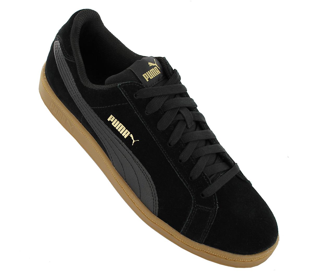 Puma Smash Sd Men s Sneakers Shoes Black Suede Trainers 361730-30 ... 9b51ffead