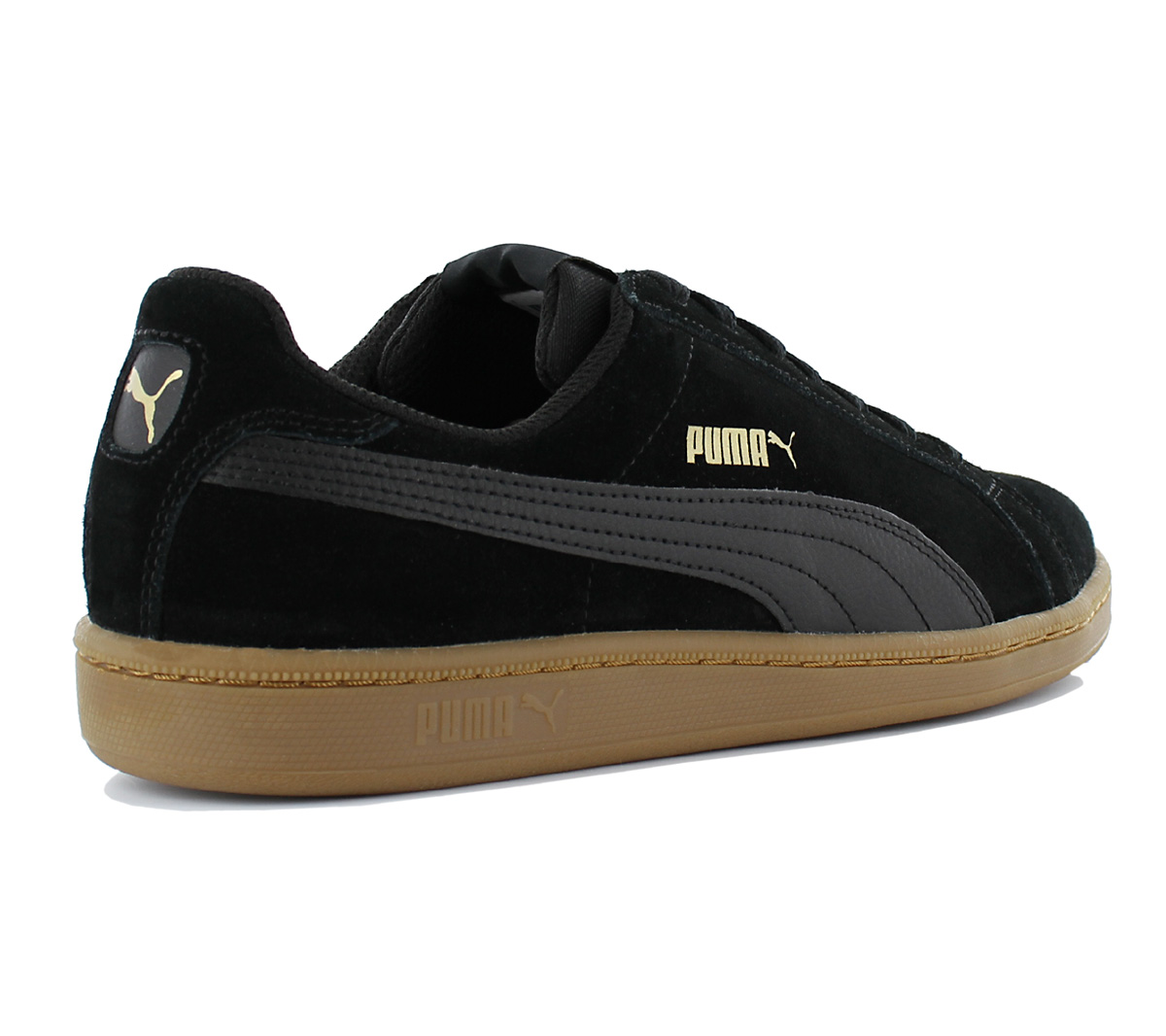 fa9f4da09c2c Puma Smash Sd Men s Sneakers Shoes Black Suede Trainers 361730-30 ...