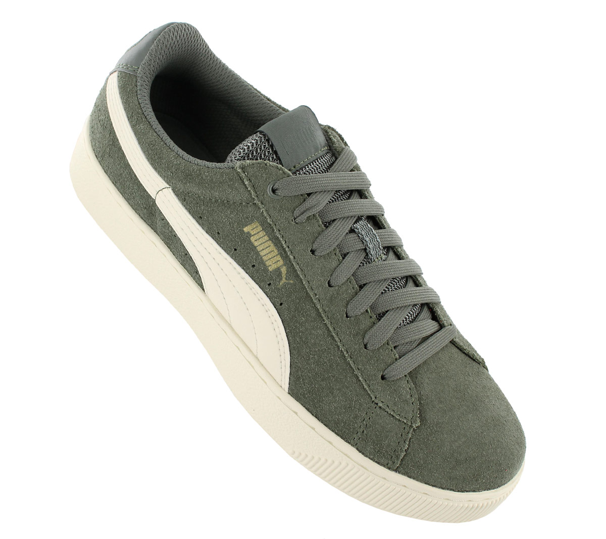 7523c102948a Details about Puma Vikky Platform Women s Sneakers Leather Agave-Grün Shoes  Sneakers 364046-01
