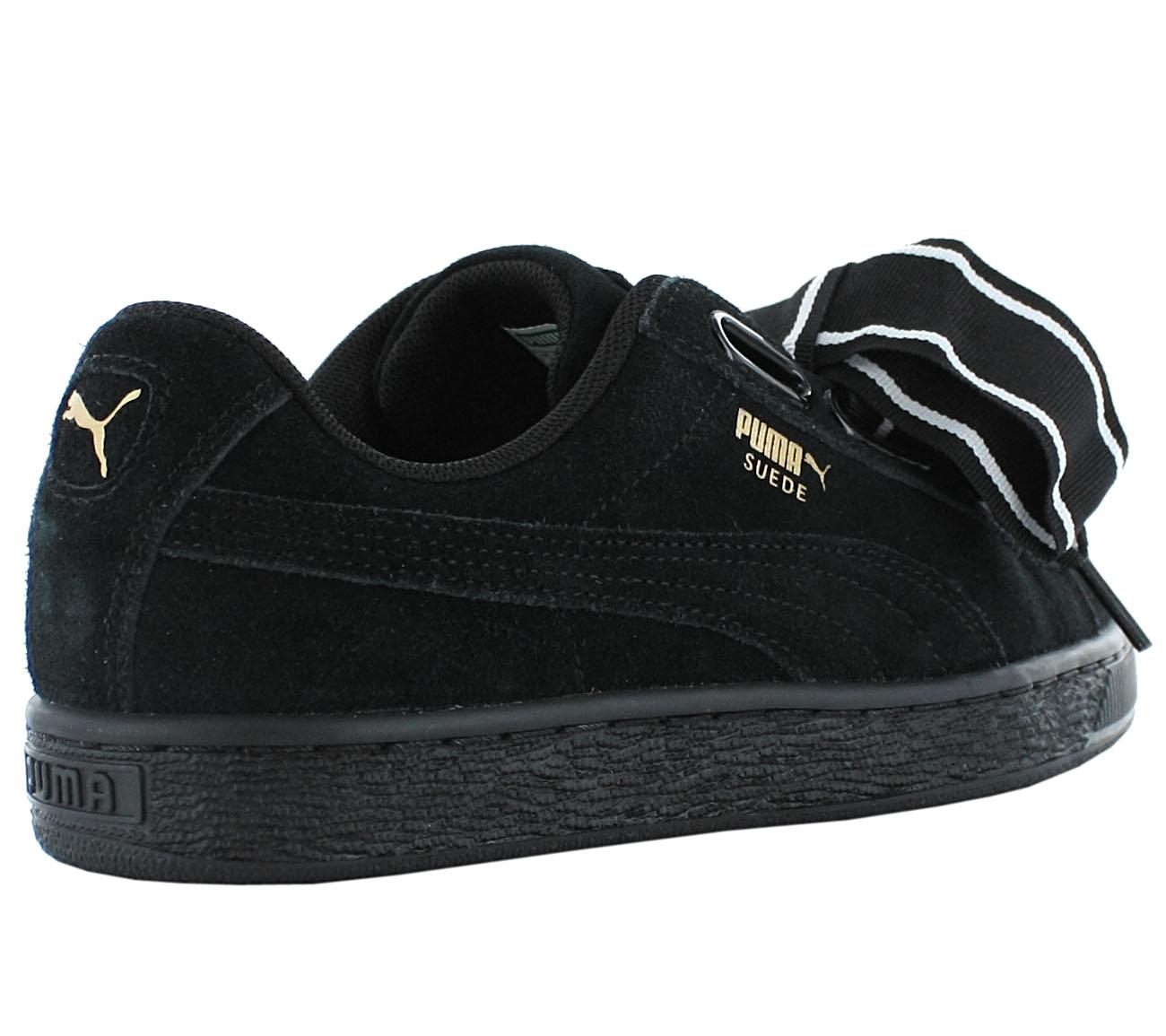 Detalles acerca de Nuevo Puma Damen Gamuza Corazón Satinado II 364084 01 Mujeres Zapatos Zapatillas Sneakers s