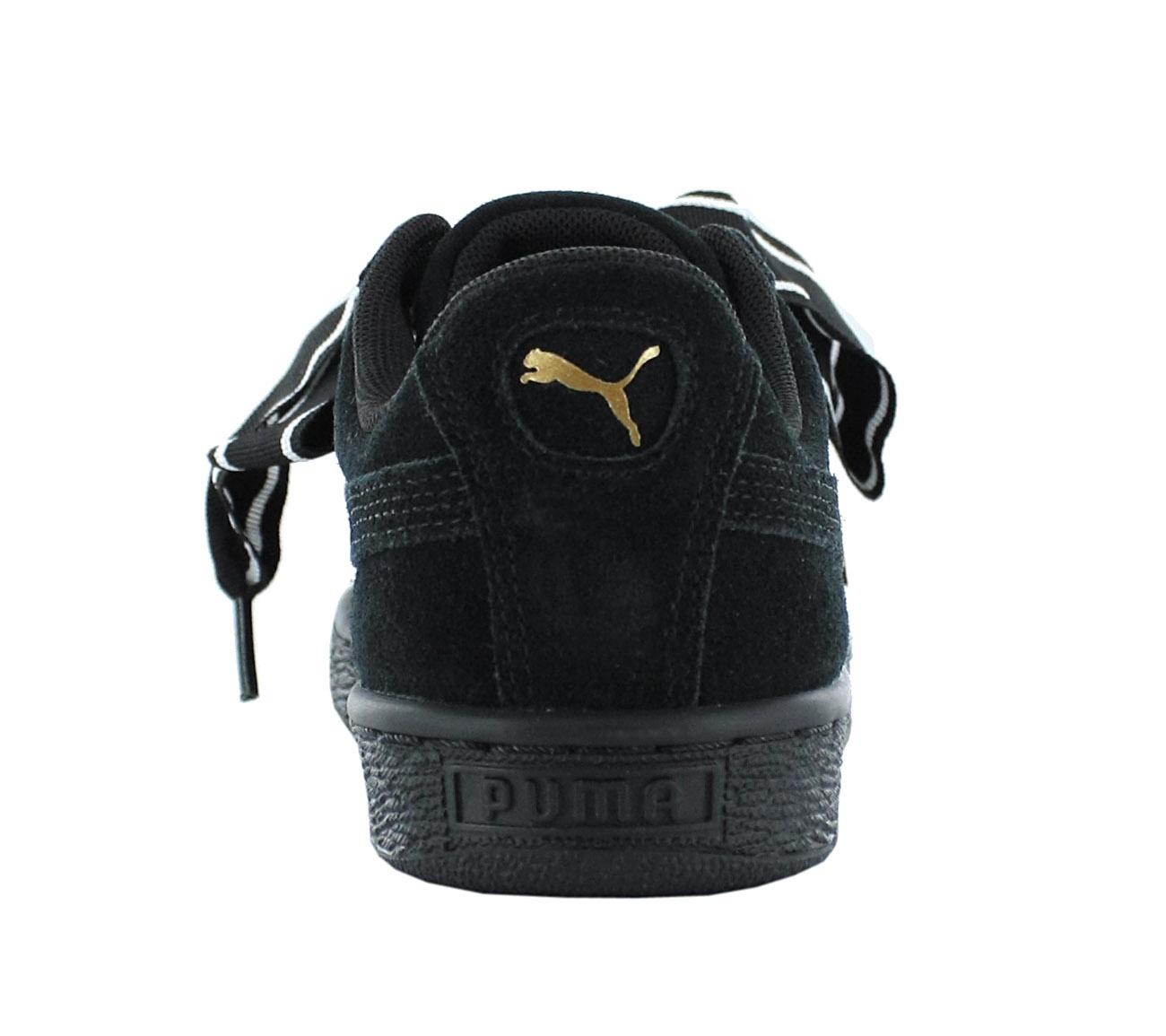 NEU Damen Puma Suede Heart Satin 2 Damen NEU Schuhe Schwarz 364084-01 SALE 253909