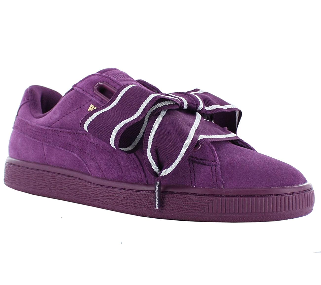 Details zu Puma Suede Heart Satin 2 Women's Sneaker Shoes Purple Basket Vikky New 364084 02