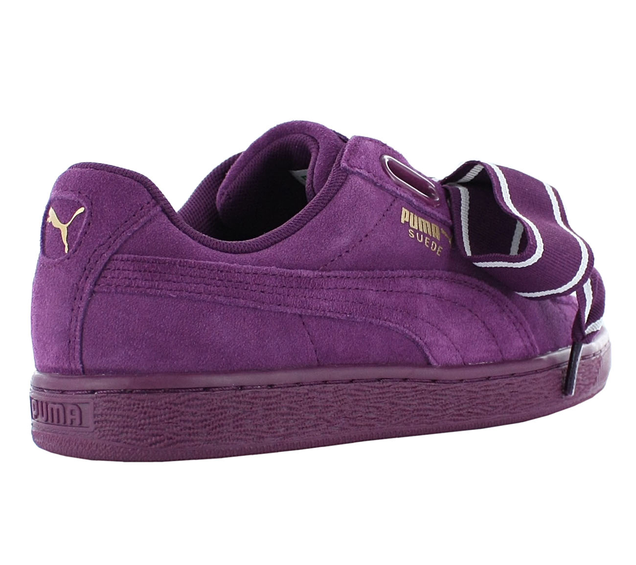 fe68df348dde Puma Suede Heart Satin 2 Women s Sneakers Shoes Violet Basket Vikky ...