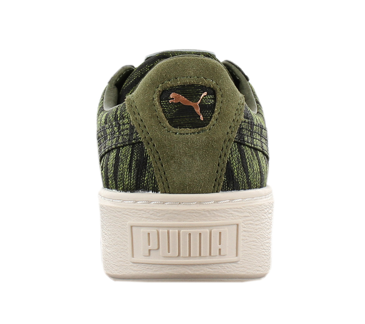 Puma Basket Platform VR Womens Sneaker Shoes Olive Green 364092 01 Sneakers NEW