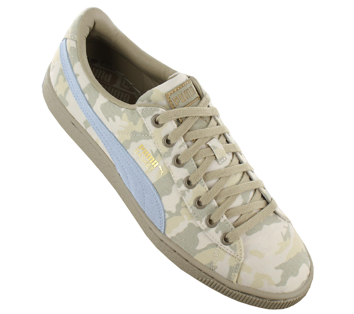 0cdc74ee77bdb Puma Basket Classic Camo Men's Sneakers Camouflage Shoes Canvas ...