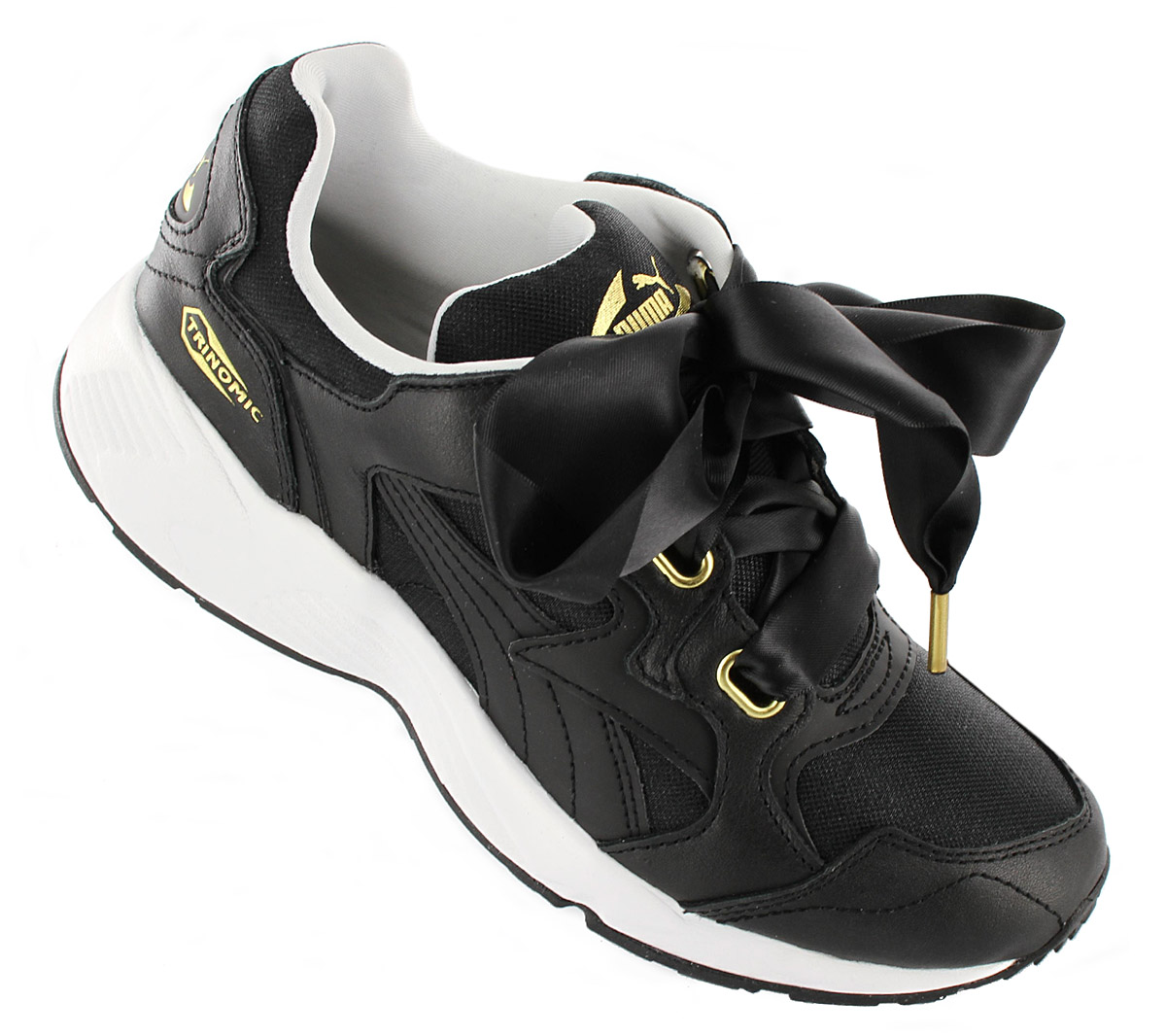 huge selection of 3f657 92c49 Details about Puma Trinomic Prevail Heart Women's Sneaker Shoes Black  365649-01 Sneakers