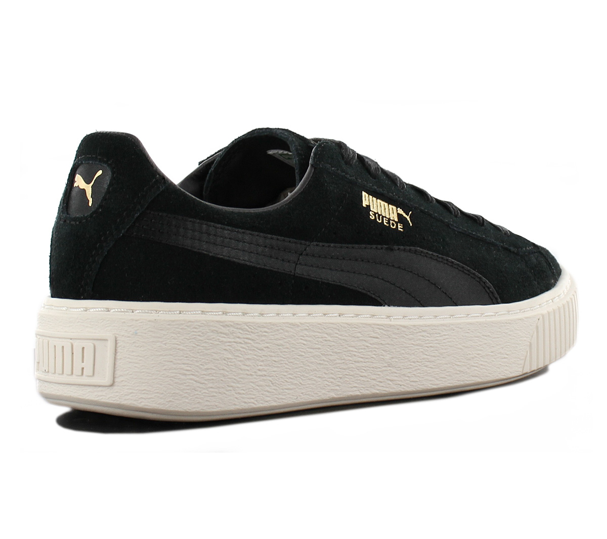 Puma Suede Platform Mono Satin Ladies Shoes Leather Sneakers 365828 ... bcabf53589