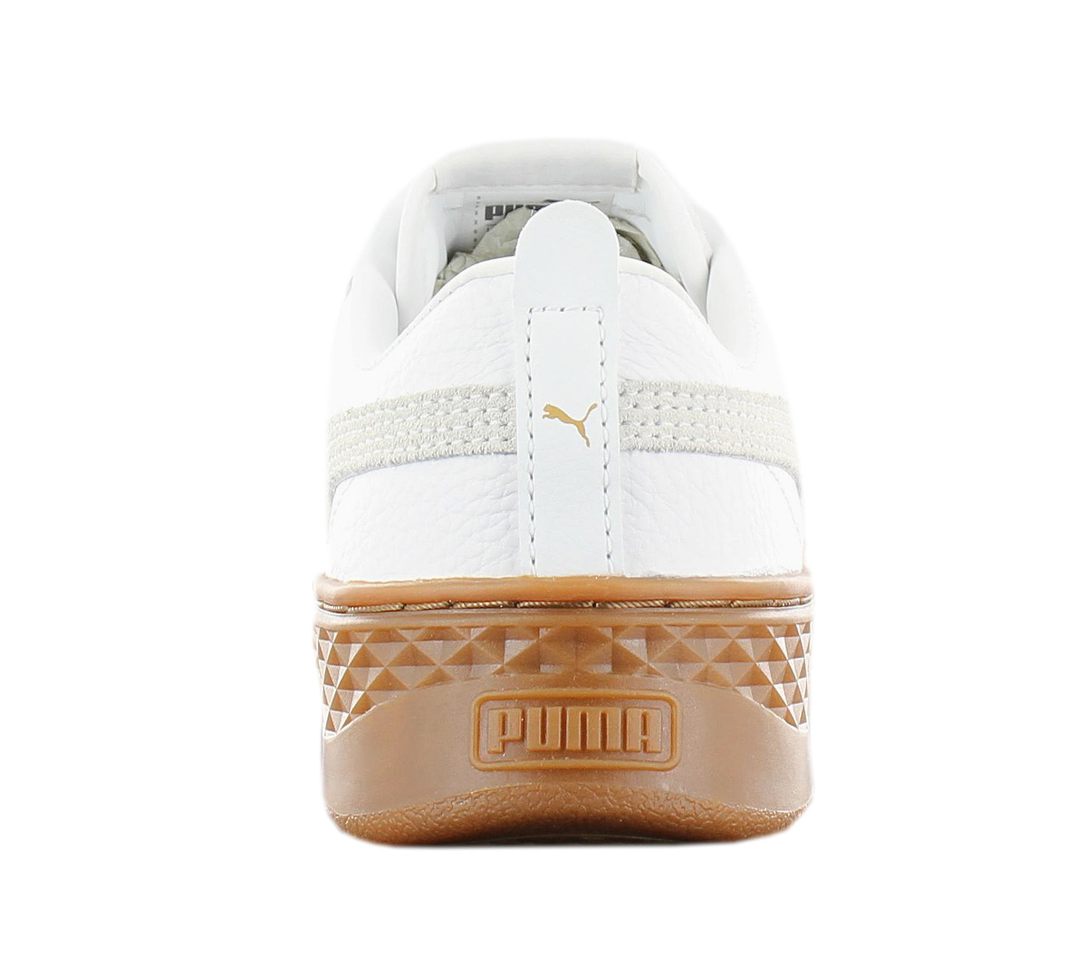 61e510119f0845 Puma Smash Platform L Leather Sneaker Ladies Shoes White 366487-02 ...