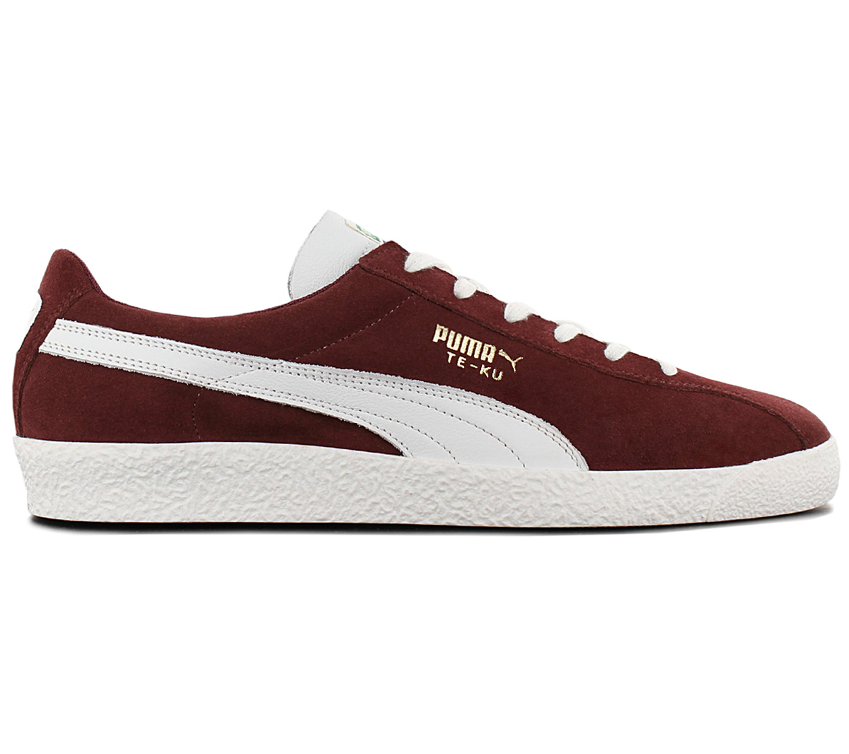 Details about Puma Te Ku Prime Men's Sneaker 366679 02 Leather Red Shoes Retro Trainers New