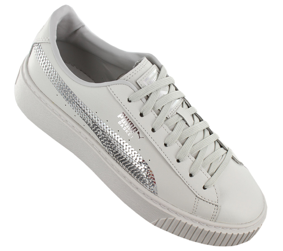 eaba546bd4 Puma Platform Basket Bling Sneaker Women Plateau Shoes 367237-02 ...
