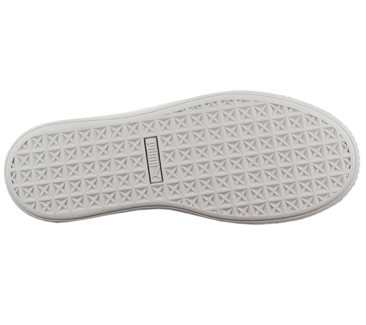 Puma Platform Basket Bling Sneaker Damen Plateau Schuhe 367237-02 Grau NEU