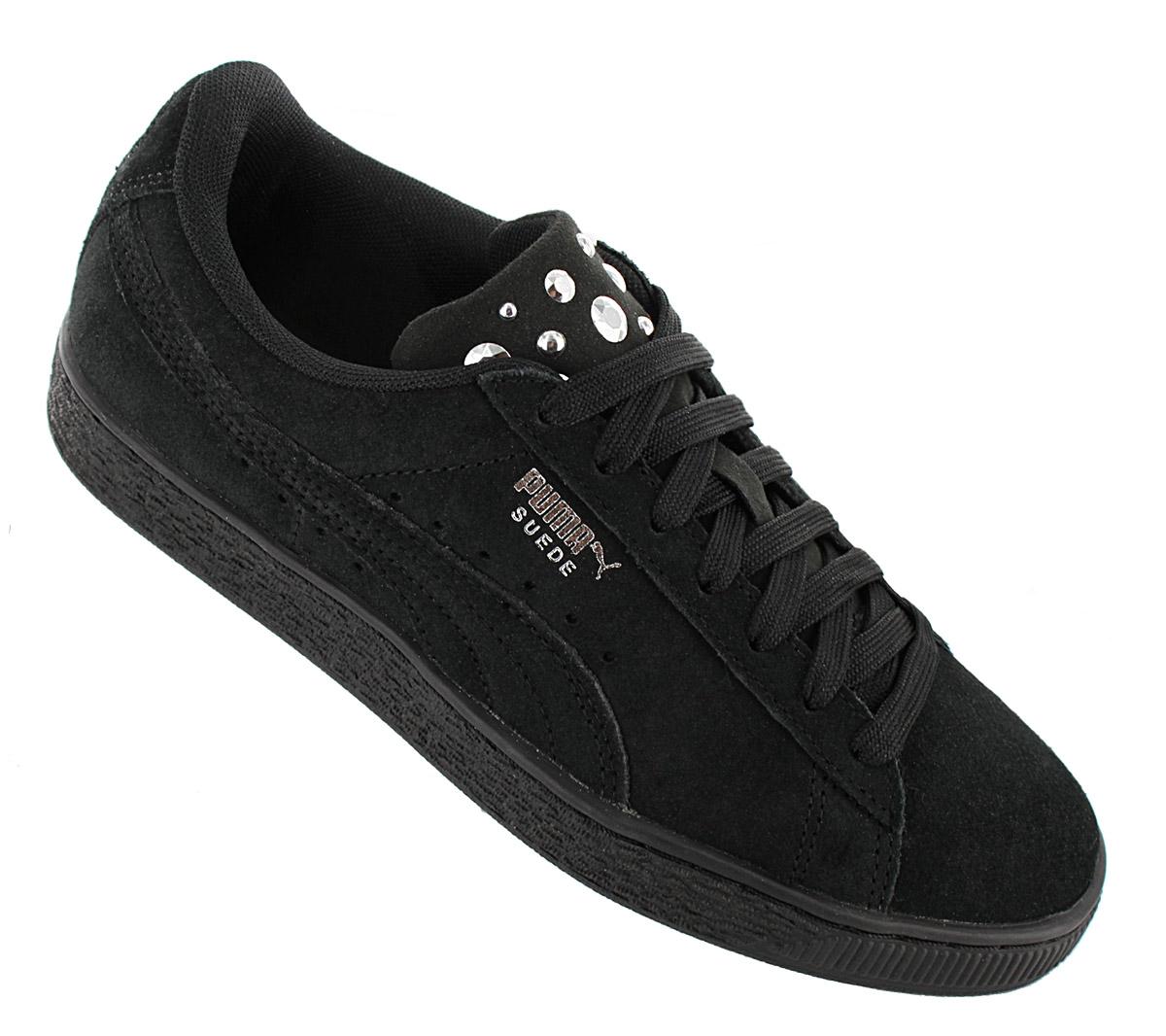 Details zu Puma Suede Jewel Damen Sneaker Schuhe 367273 01 Leder Schwarz Turnschuhe NEU