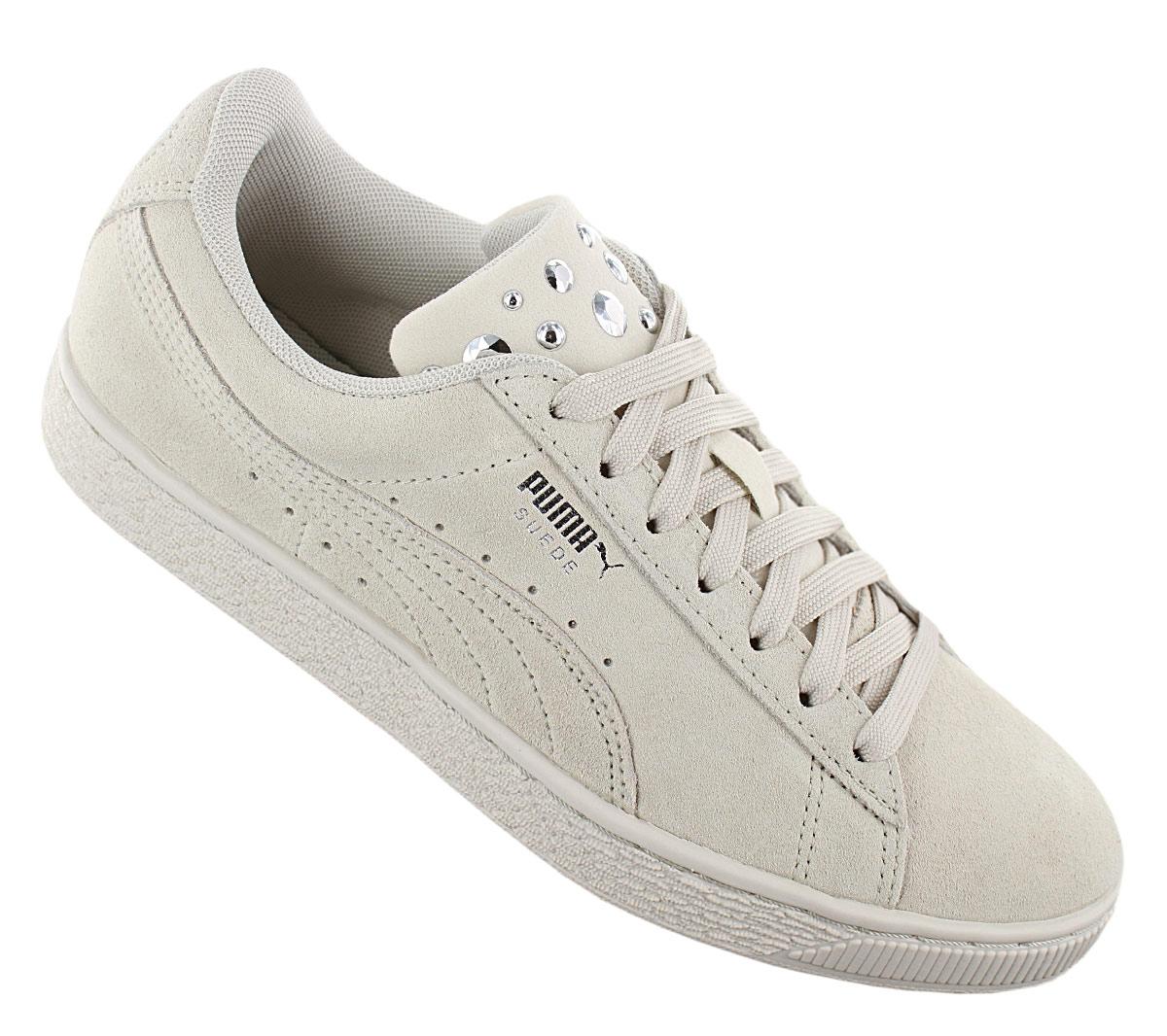 Details zu Puma Suede Jewel Damen Sneaker Schuhe 367273 02 Leder Beige Turnschuhe NEU