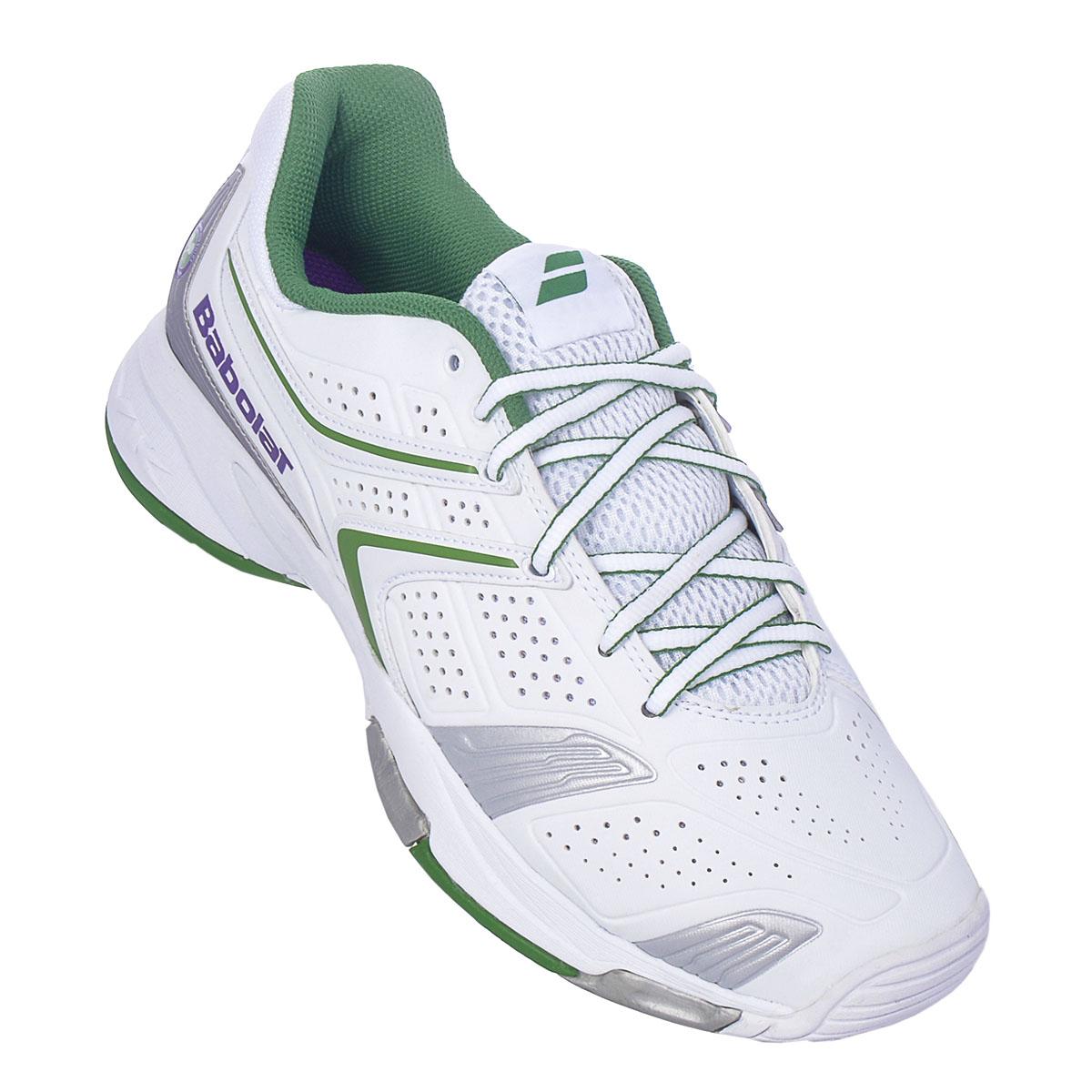 NEU Babolat Drive 3 Herren All Court M Wimbledon Herren 3 Tennisschuhe Weiß 36F1395 SALE 2ad1d5