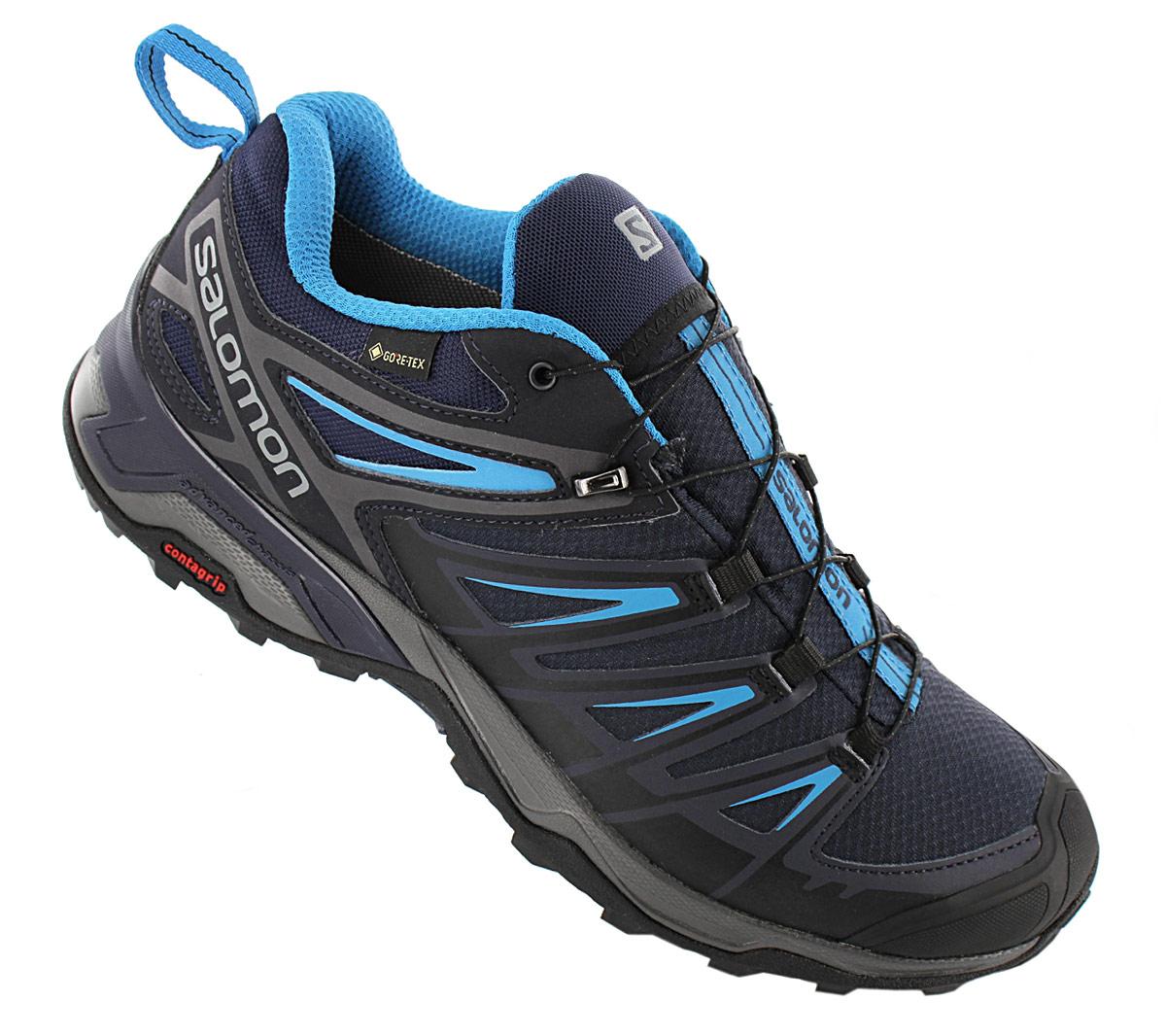 Details about Salomon X Ultra 3 GTX Gore Tex Mens Walking Shoes 402423 Blue Trekking Shoes show original title